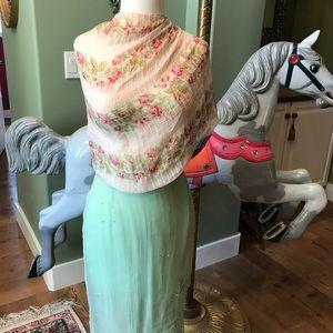 Nataya green sheer skirt